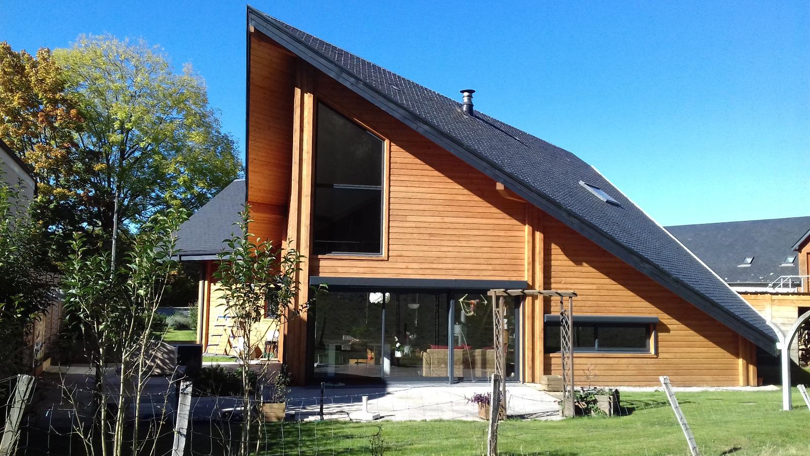 vente maison en bois d'architecte dans un villageà 5 minutes de Lourdes # Vente Maison En Bois